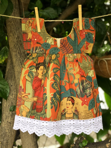 Kids' Dresses (Mexica Style) - Frida's Garden
