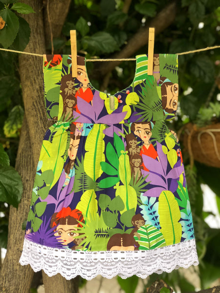Ketza Dress - Frida & Her Monkeys