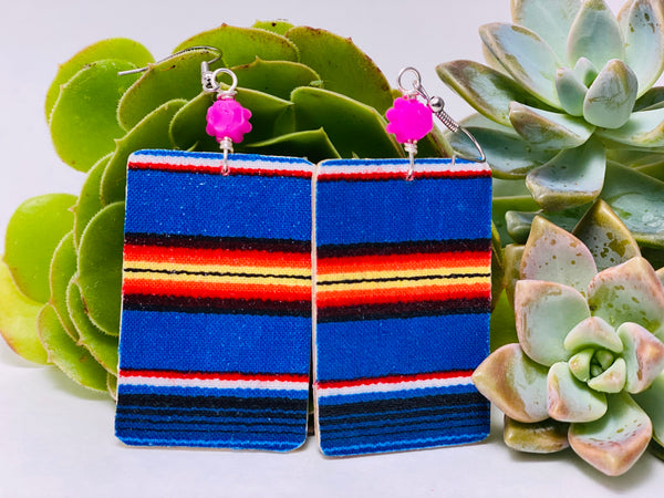 Earrings - Sarape (purple)