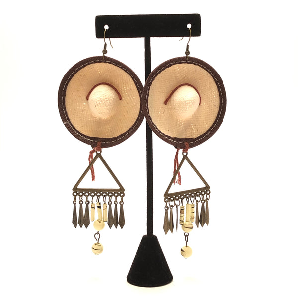 Earrings - Sombrero (Brown)