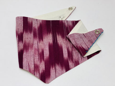 Doggy Hankie - El Burgundy  (Small / Extra Small)