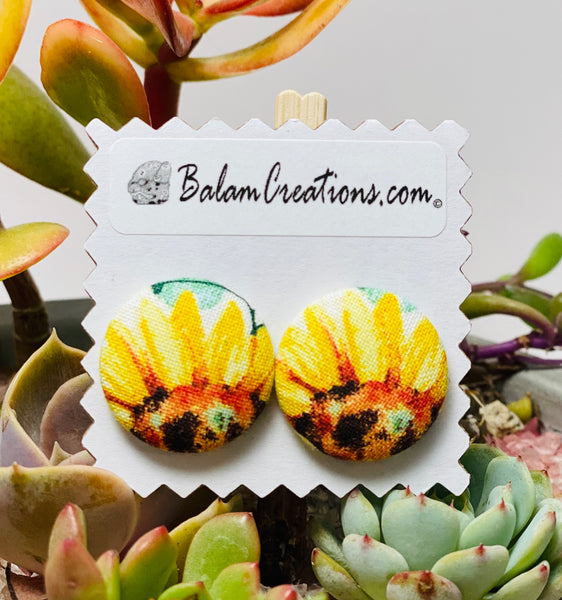 Textile Studs - Sunflowers