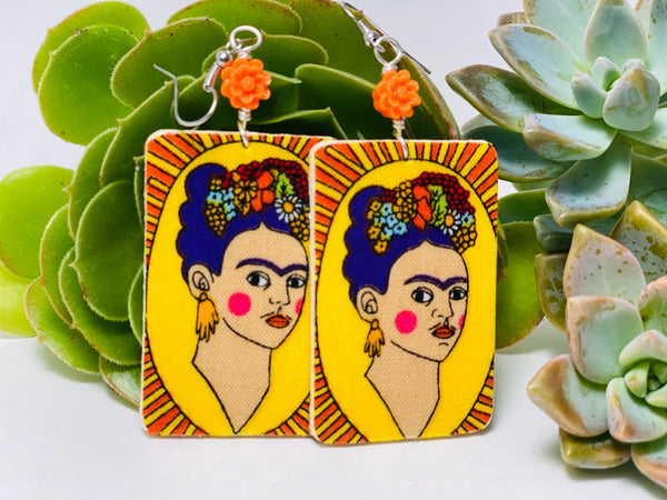 Earrings - Frida (yellow)
