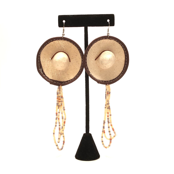 Earrings - Sombrero with Beads