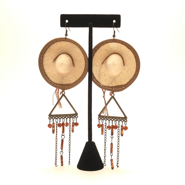Earrings - Sombrero (Tan)