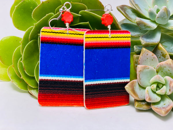 Earrings - Sarape (blue)