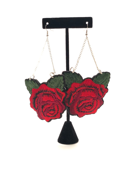 Earrings - Roses