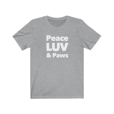 Peace Luv Paws - Unisex Graphic Tee - Luv the Paw