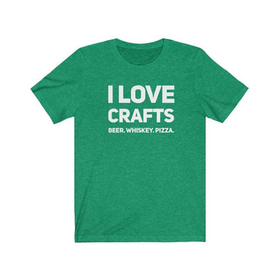 I Love Crafts - Unisex Graphic Tee - Luv the Paw