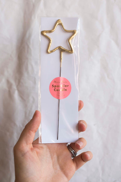 Gold Sparkler Star Candle