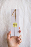 Gold Sparkler Number Candle