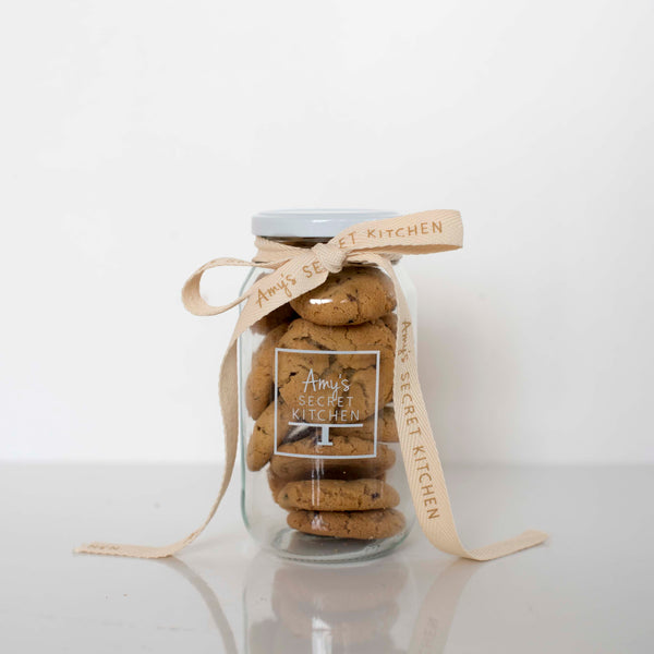 White Chocolate, Raspberry & Peanut Butter Cookie Jar