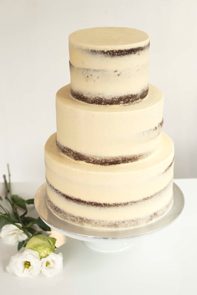 Three Tear Wedding Cakes.3 Tiered Naked Wedding Cake
