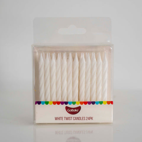 White Twist Candles