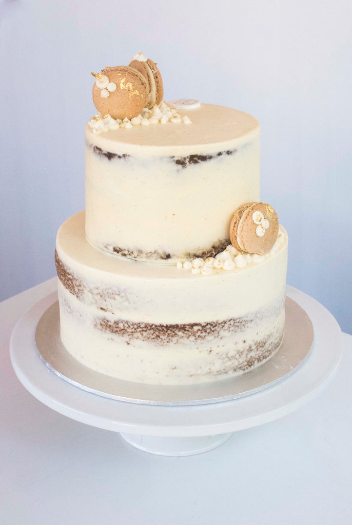 2 Tiered Macaron Wedding Cake Amy S Secret Kitchen