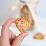 White Chocolate and Cherry Heart Cookies