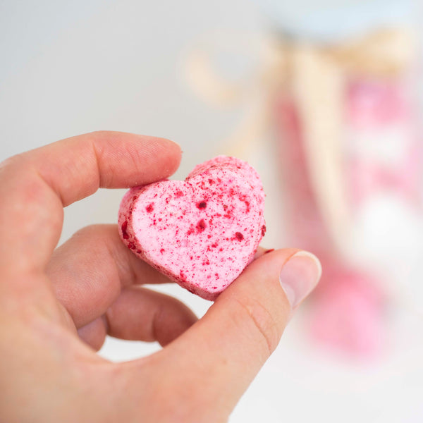 Vanilla and Raspberry Marshmallow Hearts