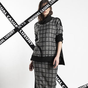 LONG CHEQUERED TUNIC