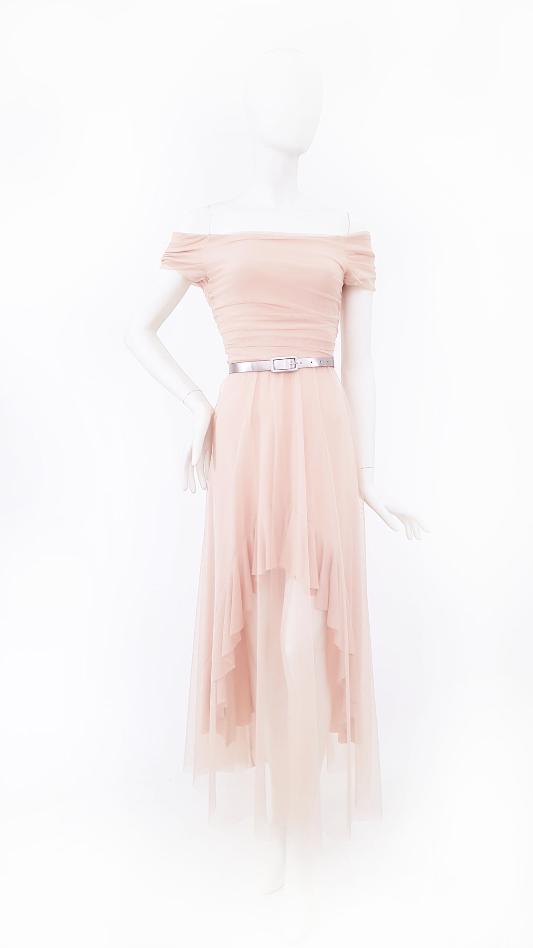TULLE DRESS WITH BELT