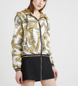 DOUBLE SIDED BOMBER GOLD AND PRINT