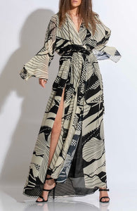 MAXI CHIFFON PRINT DRESS