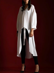 ASYMMETRIC LONG SHIRT - 2 COLOURS