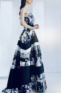 BALL GOWN EMBELLISHED FLORAL PATTERNS