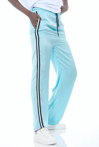 SATIN TRACK TROUSERS - BLUE OR BLACK