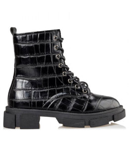 CROC COMBAT BOOTIE WITH TRACKED SOLE