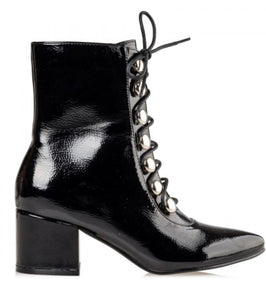 SHINY ANKLE BOOTS