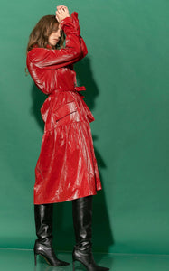 SHINY RAINCOAT - RED