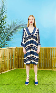 NAOUSSA BOHO PRINT DRESS - BLUE