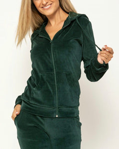 VELOUR TRACKSUIT POSITIVE THINGS - GREEN