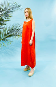 MAXI LINEN DRESS - 5 COLOURS