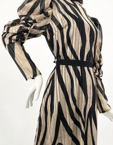 STRIPED SLEEVED DRESS
