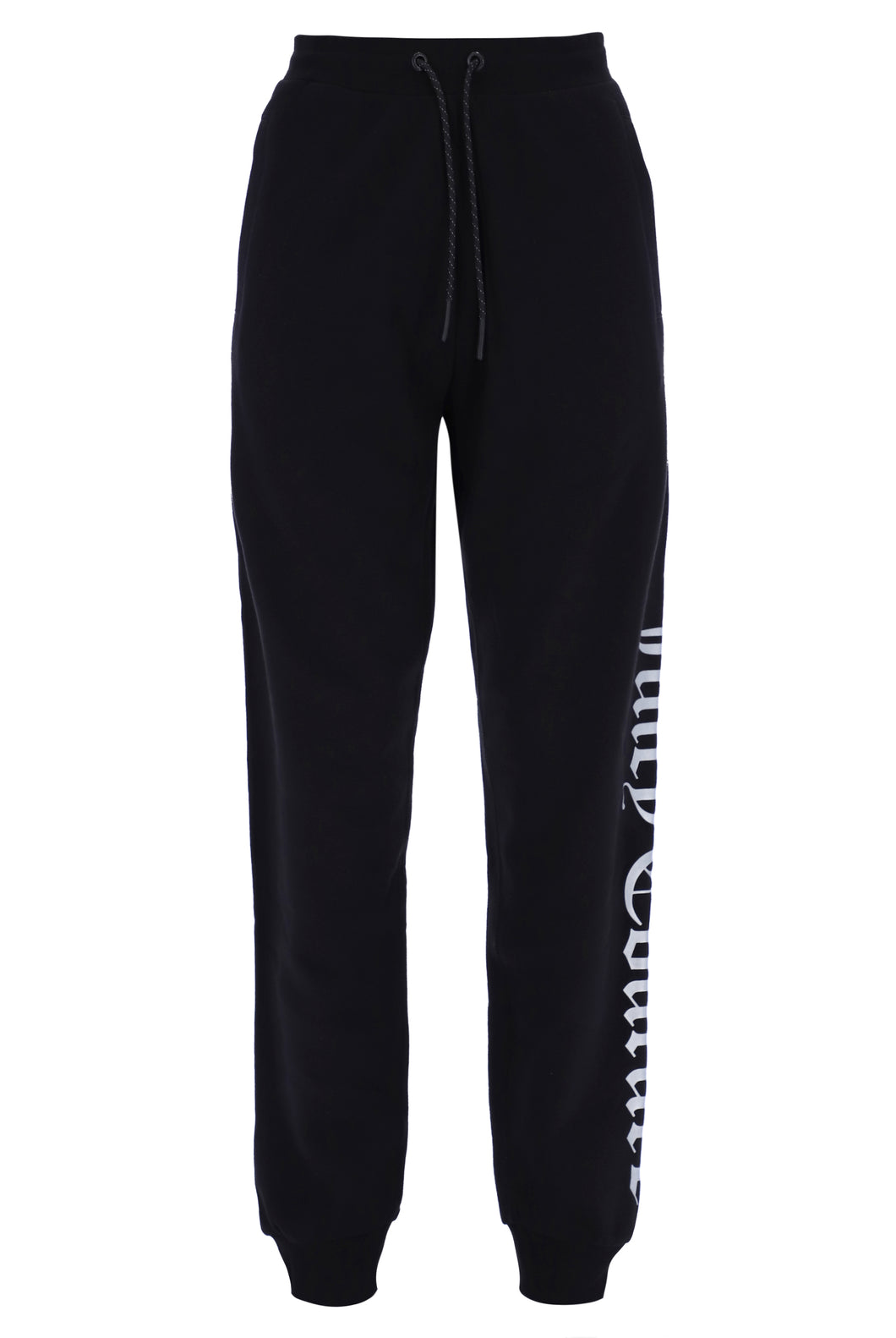 TRACK BOTTOMS WITH LARGE LOGO - BLACK