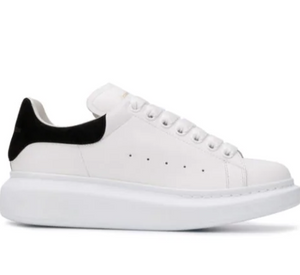 WHITE SNEAKER WITH SUEDE BLACK