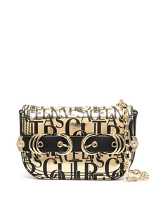 REAL LEATHER GOLD LEAF PRINT SHOULDER BAG