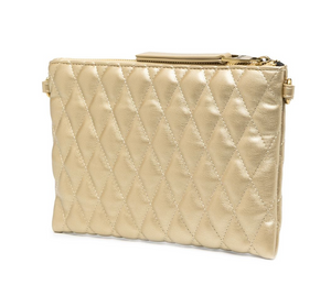 QUILTED ENVELOPE - GOLD