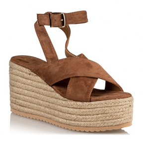 SUEDE WEDGES - CUOIO