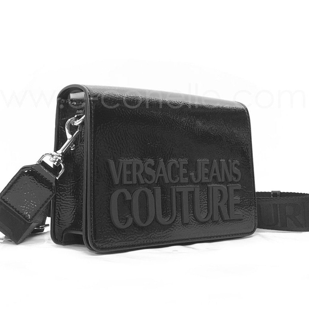 SHINY FLIPTOP CROSSBODY WITH LARGE LOGO