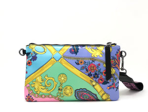 SATIN MULTICOLOUR ENVELOPE BAG