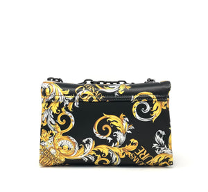 SATIN FLORAL PRINT SMALL SHOULDER BAG