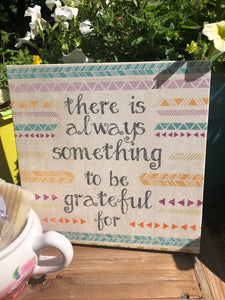 Always Grateful Sign + Teapot of Essential Oil Soaps