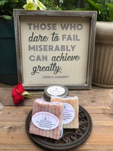Great Gift! Achieve Sign, Body Butter, 2 Essential Oil Soaps , Metal Trivet