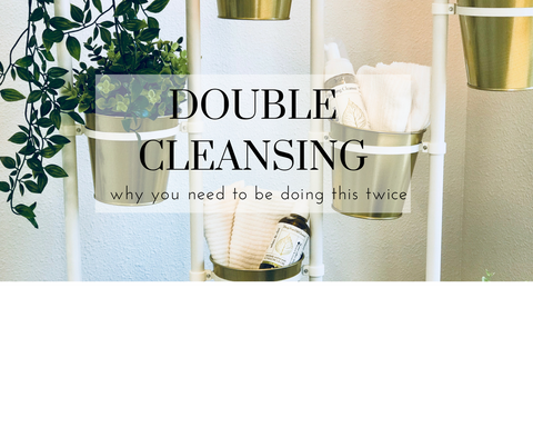 double cleansing oil and face wash