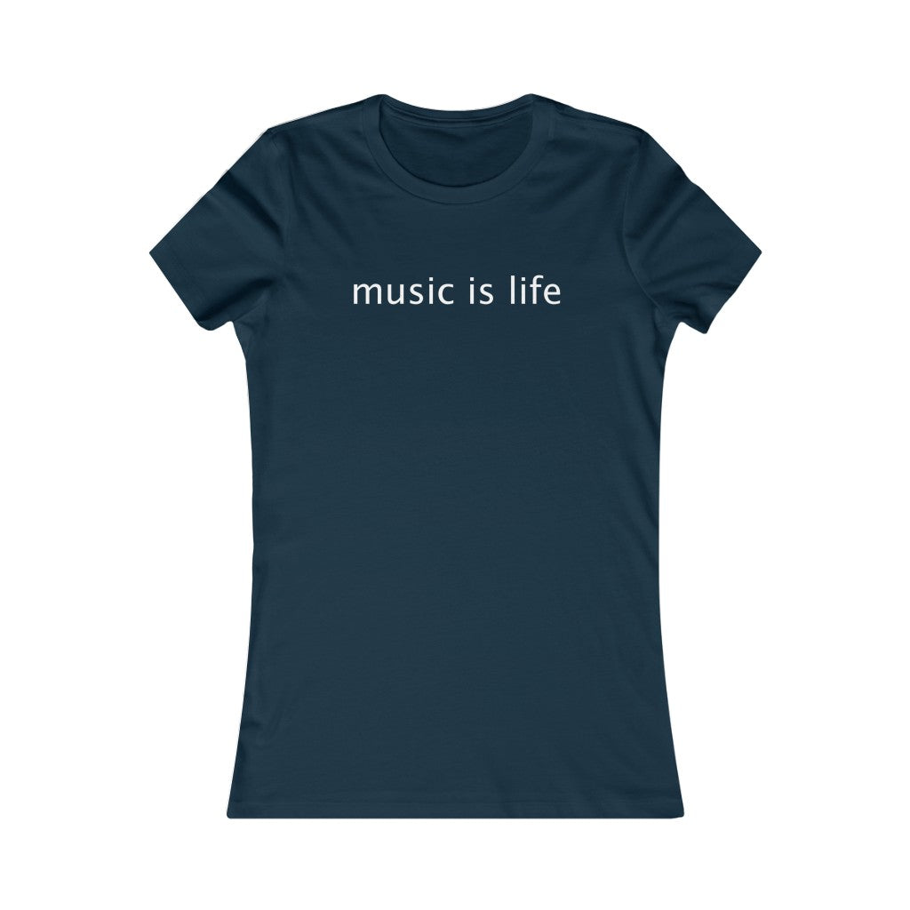 Music is Life - Women's Crew Tee