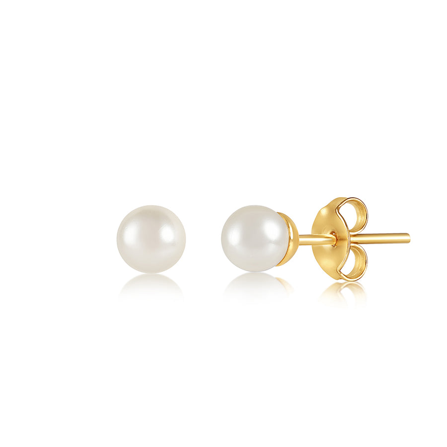 PEARL MEDIUM STUD EARRING