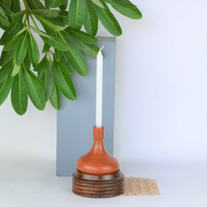 Hauri Terracotta Candle Holder - Opaque Studio Candle Holder