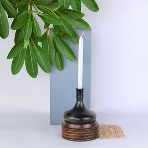 Hauri Charcoal Candle Holder - Opaque Studio Candle Holder